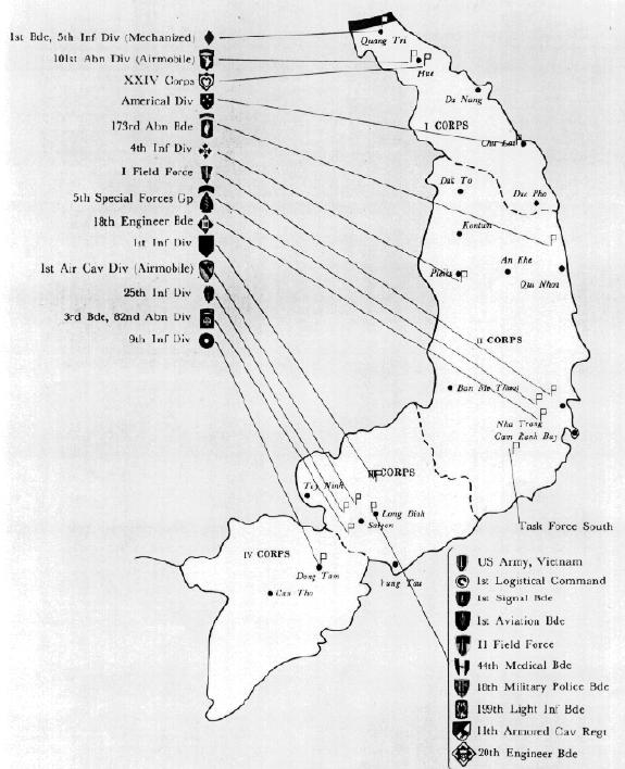 Vietnam War Resources The Patriot Files Forums - Us armor unit map